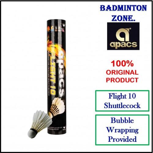 Apacs Badminton Feather Shuttlecock Flight 10