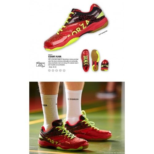 Forza Badminton Shoes Court flyer shoes0455 Chinese red