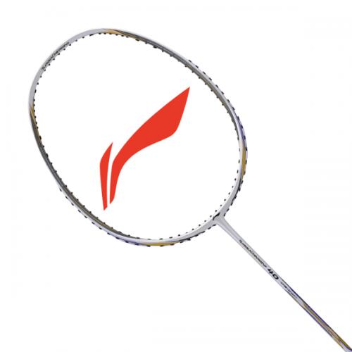 Li-Ning  Badminton Racket TURBO CHARGING 40 White Gold