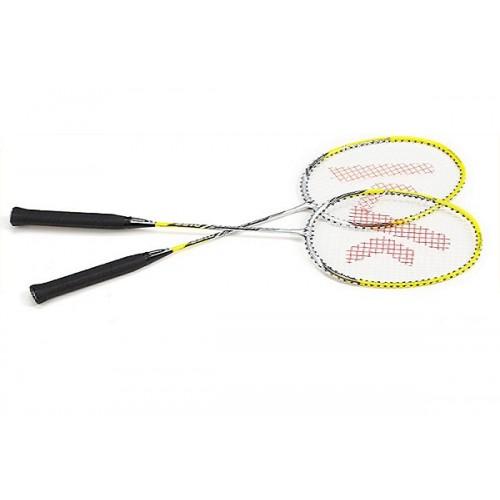 Kawasaki Badminton Racket  Up 0152 Silver + Yellow Pair
